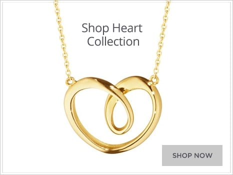 Georg Jensen Heart Jewellery for Men and Women Wharton Goldsmith