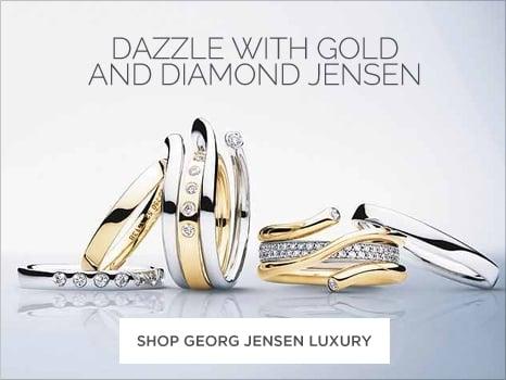 Georg Jensen diamond gold Wharton Goldsmith jewellery