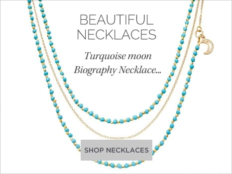 Astley Clarke Women's Jewellery Turquoise Moon Biography Necklace Wharton Goldsmith
