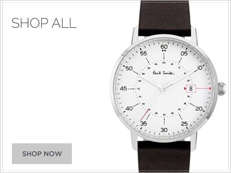 Paul Smith calf leather strap metal bracelet Men's Watch