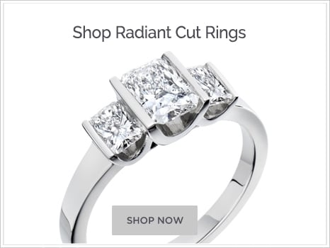 Shop for Radiant Cut Diamond Engagement Rings