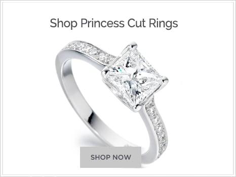 Shop for Princess Cut Diamond Engagement Rings