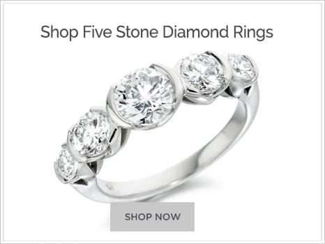 Browse Five Stone Diamond Engagement Rings