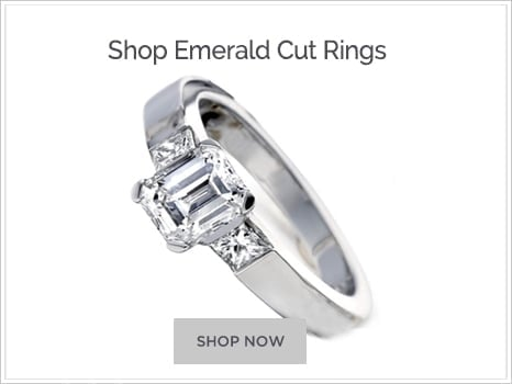 Browse Emerald Cut Diamond Engagement Rings