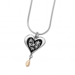 Silver and 9ct Gold Ever After Necklace