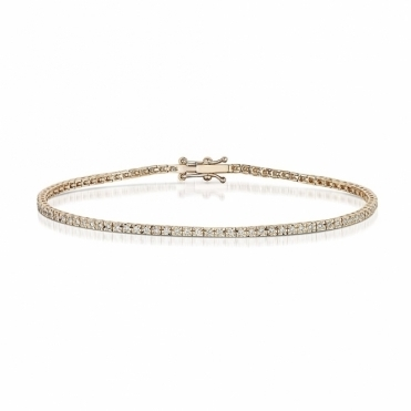 18 Rose Gold Diamond Line Bracelet