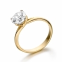 18 Yellow Gold Four Claw Crossover Brilliant Cut Diamond Ring
