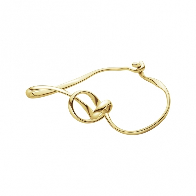 18ct Gold Forget-Me-Knot Bangle