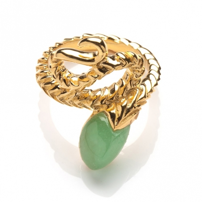 18ct Gold Plated Sterling Silver Wrapped Snake Ring