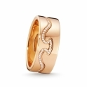 18ct Rose Gold Diamond Fusion End Ring 1371