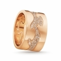 18ct Rose Gold Diamond Set Fusion Centre Ring 1370