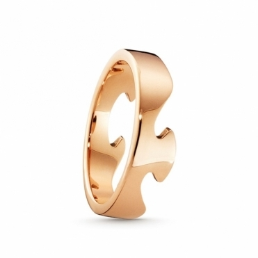 18ct Rose Gold Fusion End Ring 1367C