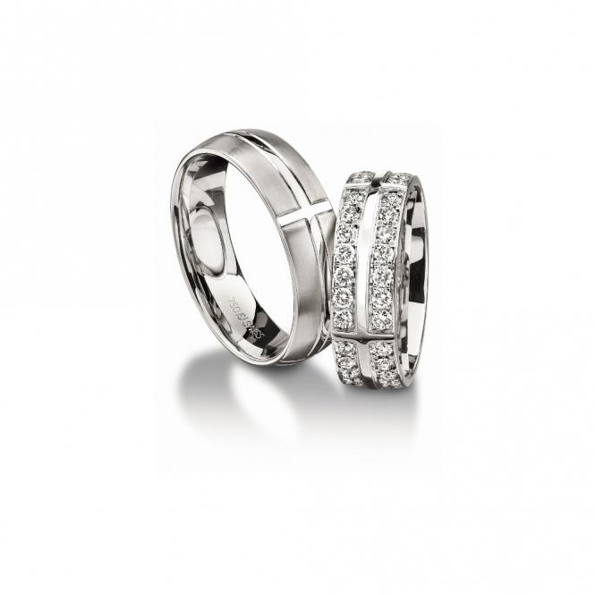 18ct White Gold 6mm Wedding Rings