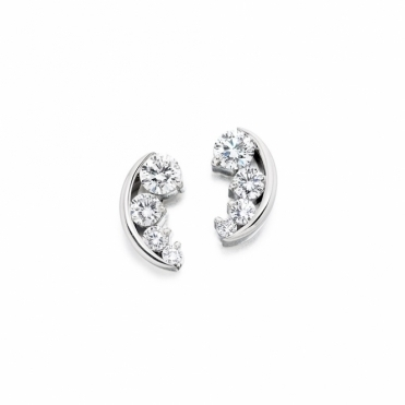 18ct White Gold Diamond Earrings. Design No. 1V22A 1.10cts total
