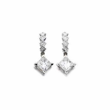 18ct White Gold Diamond Earrings. Design No. 1V31A