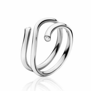 18ct White Gold & Diamond Magic Ring