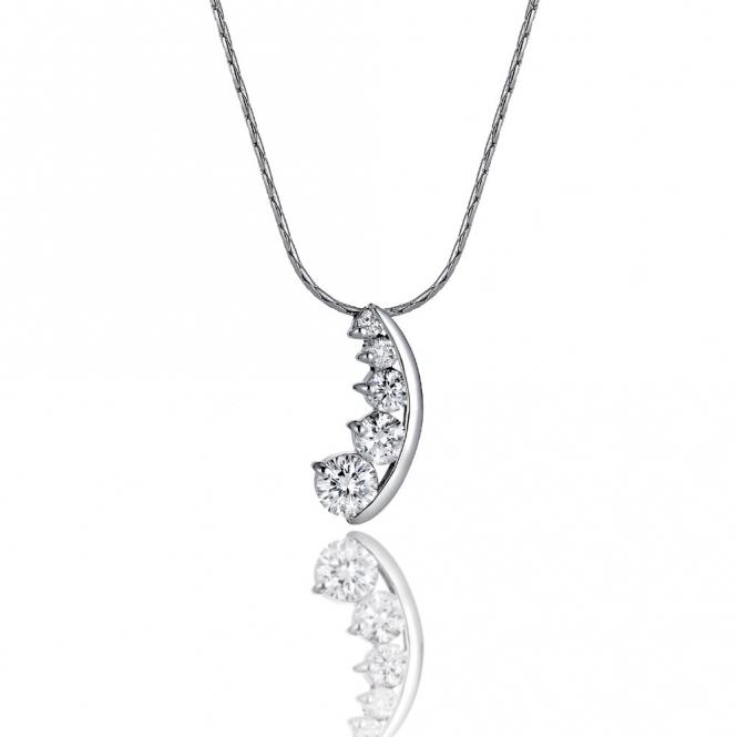 18ct White Gold Diamond Pendant. Design No. 1V22A