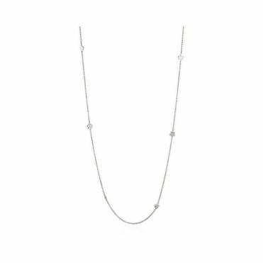 18ct White Gold Diamond Set Chain RRP £1950