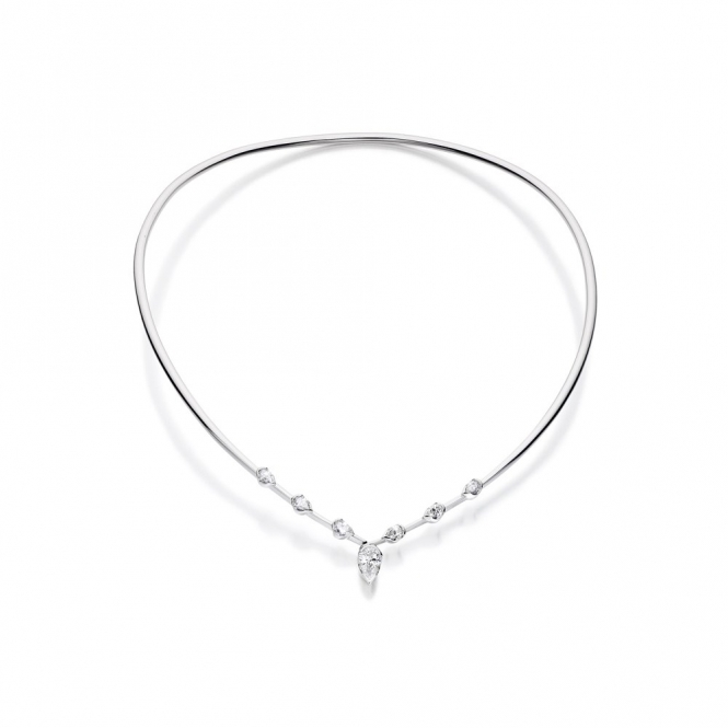 18ct White Gold Diamond Set Collar. Design No. 1V38A