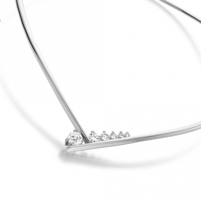 18ct White Gold Diamond Set Collar Necklace. Design No. 1T96A
