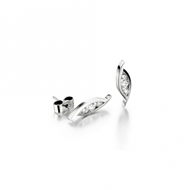 18ct White Gold Diamond Set Earrings.  0.36ct total. Design No. 1T69A
