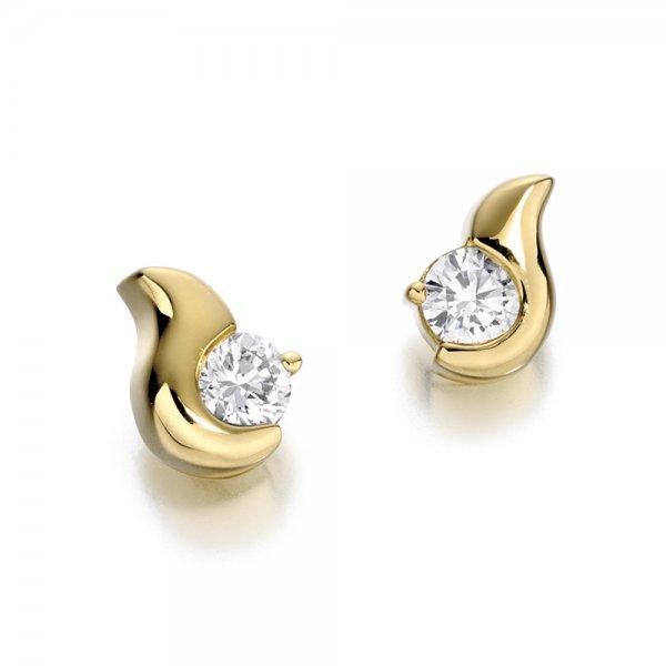 1s314w 18ct White Gold Diamond Set Earrings Design No