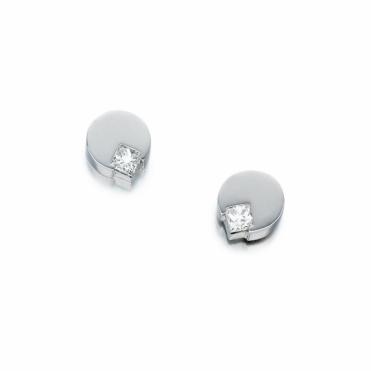 18ct White Gold Diamond Set Earrings. Design No. 1T31A