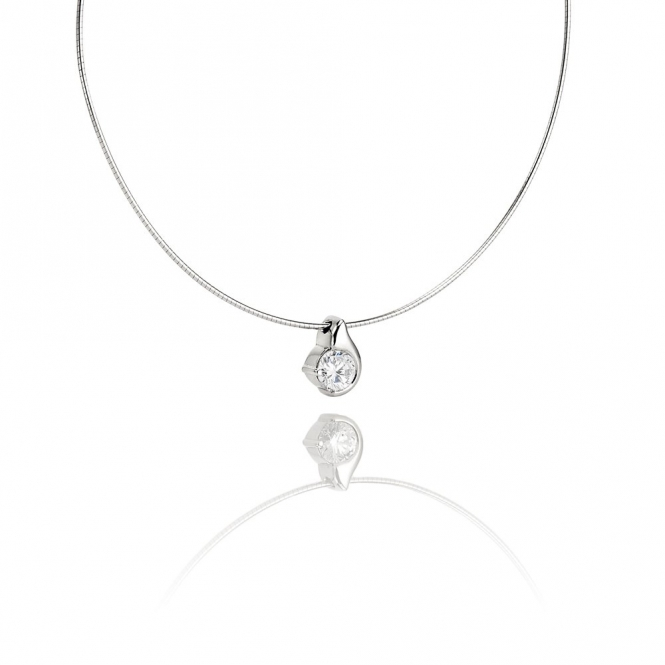 18ct White Gold Diamond Set Pendant.  Design No. 1S314