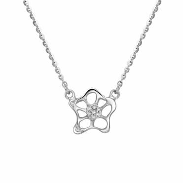 18ct White Gold Diamond Set Single Allure Pendant