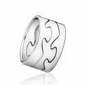 18ct White Gold Fusion Centre Ring 1368A