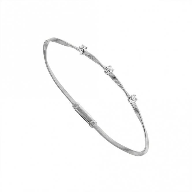 18ct White Gold Marrakech Diamond Set Bracelet