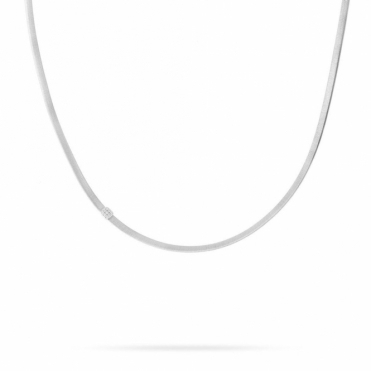 18ct White Gold Masai Single Strand Diamond Necklace