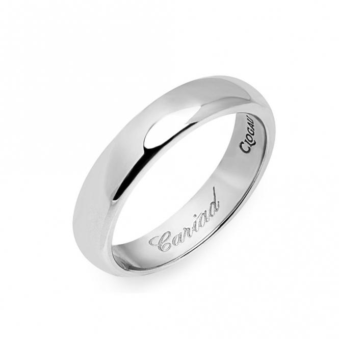 18ct White Gold Windsor 4mm Wedding Ring