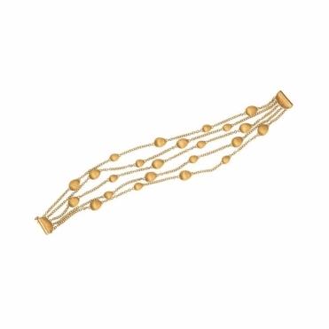 18ct Yellow Gold 5 Strand Confetti Oro Bracelet