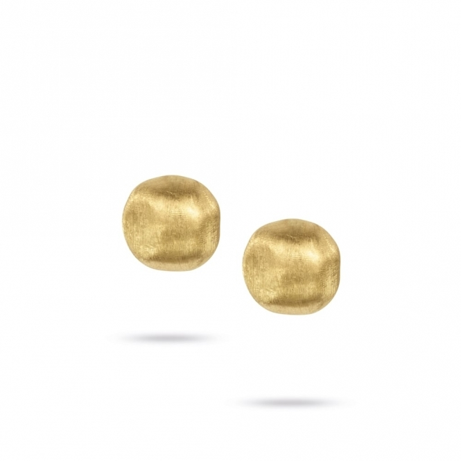 18ct Yellow Gold Africa Post & Clip Stud Earrings