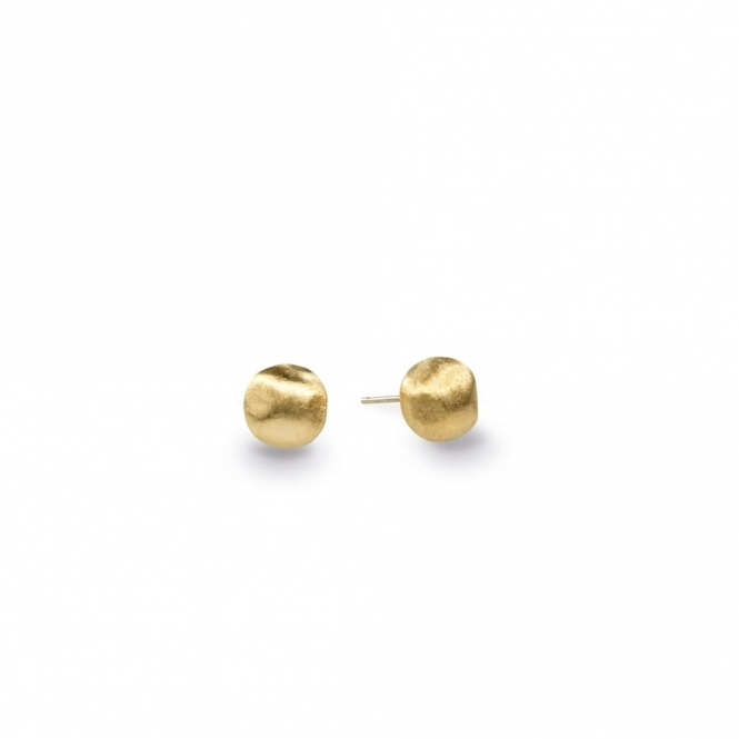 18ct Yellow Gold Africa Stud Earrings