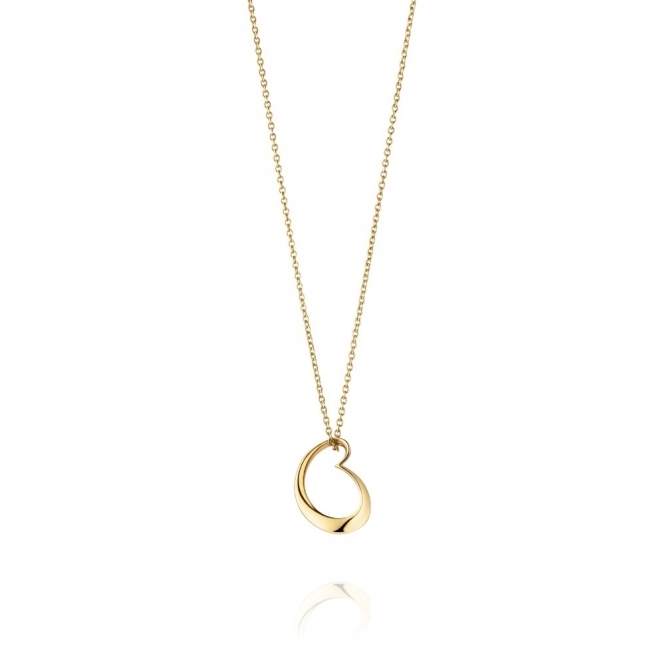 18ct Yellow Gold Artist Heart Pendant