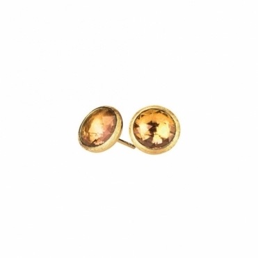 18ct Yellow Gold Citrine Jaipur Stud Earrings