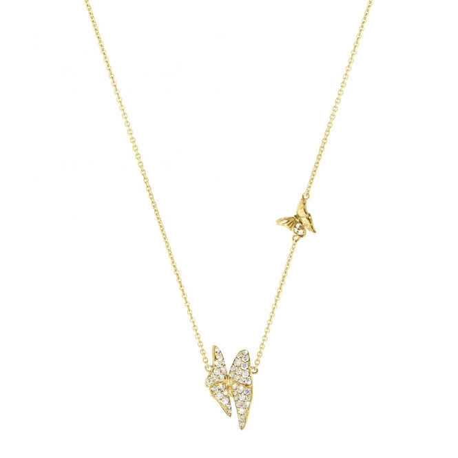 18ct Yellow Gold Diamond Askill Pendant