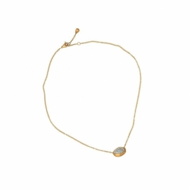 18ct Yellow Gold Diamond Confetti Isola Pendant