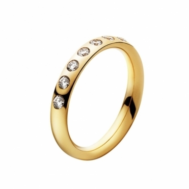 18ct Yellow Gold & Diamond Magic Ring