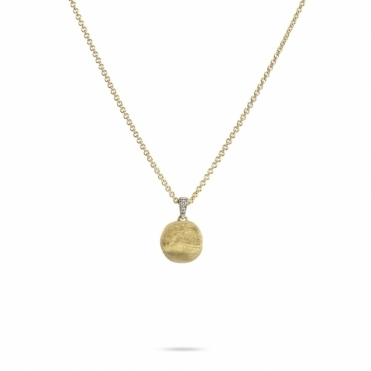 18ct Yellow Gold Diamond-Set Bale Delicati Necklace