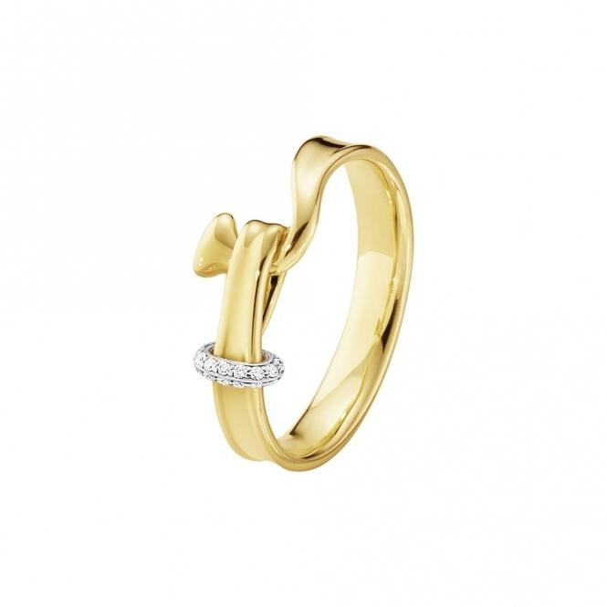 18ct Yellow Gold & Diamond Torun Ring