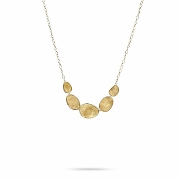 18ct Yellow Gold Five Link Lunaria Necklace