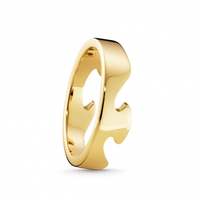18ct Yellow Gold Fusion End Ring 1367B