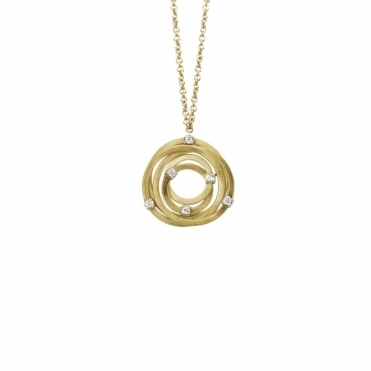 18ct Yellow Gold Goa Diamond Pendant