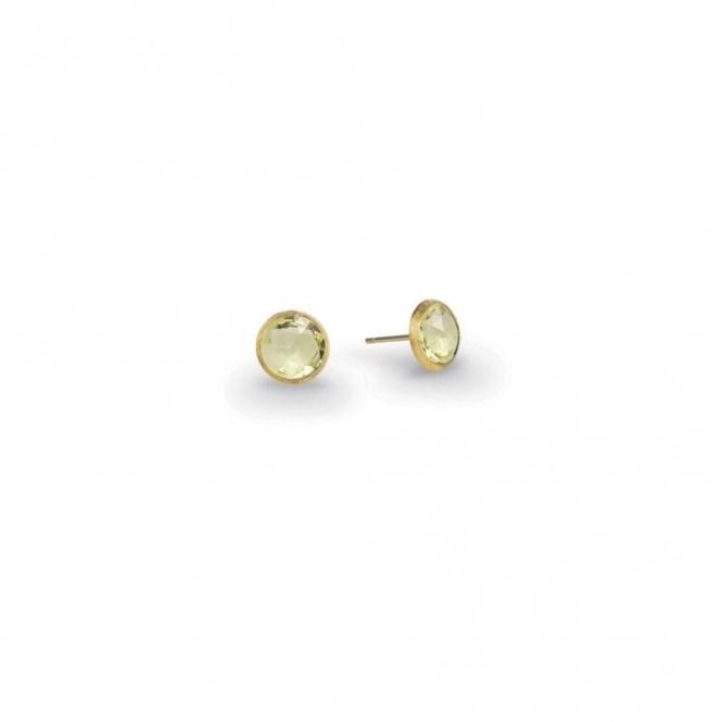 18ct Yellow Gold Jaipur Light Citrine Stud Earrings