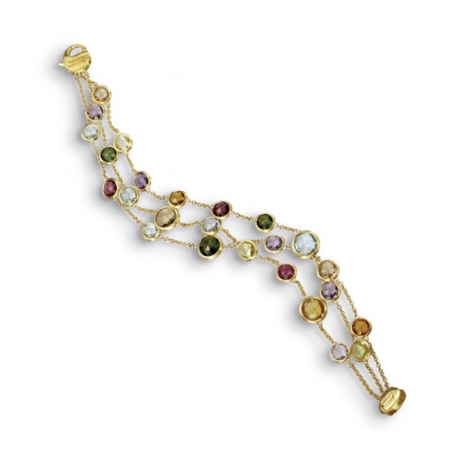 18ct Yellow Gold Jaipur Mixed Gem Bracelet