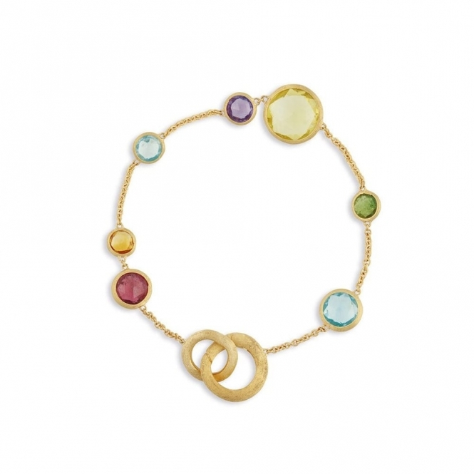 18ct Yellow Gold Jaipur Mixed Stone Bracelet