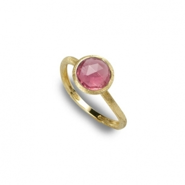 18ct Yellow Gold Jaipur Pink Tourmaline Single Stone Ring